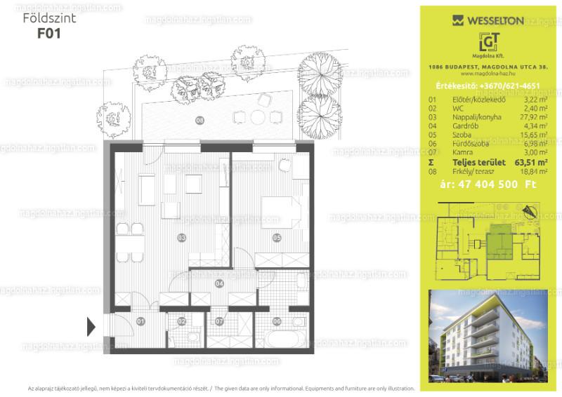Magdolna ház - 4 szoba kertkapcsolattal