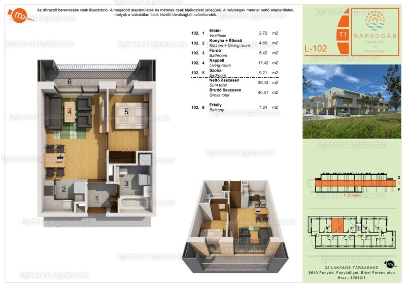 Liget Resort - 2 szoba erkéllyel