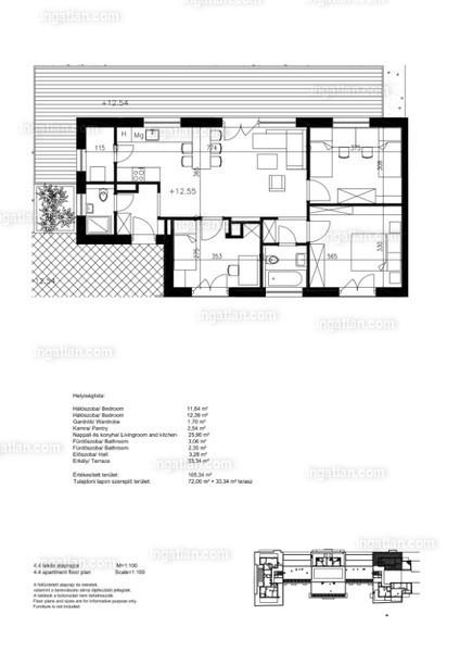 4 szoba erkéllyel