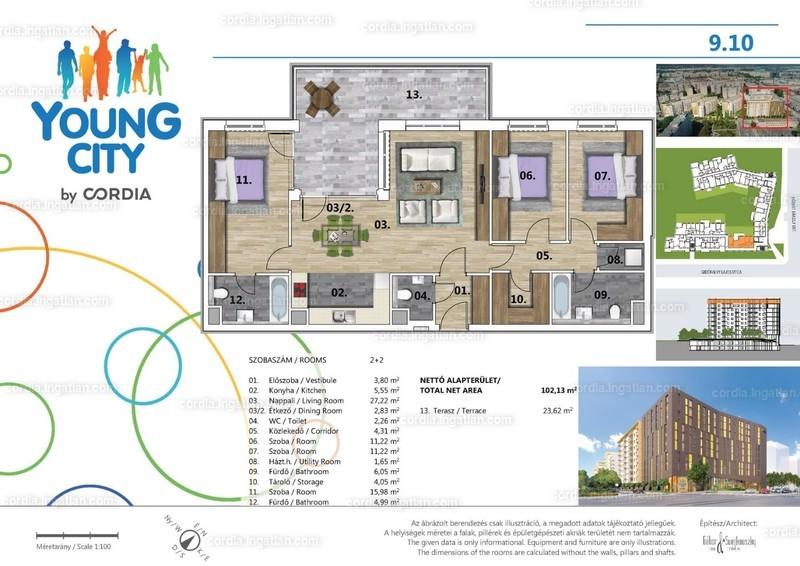 Young City 3 by Cordia - 4 szoba erkéllyel
