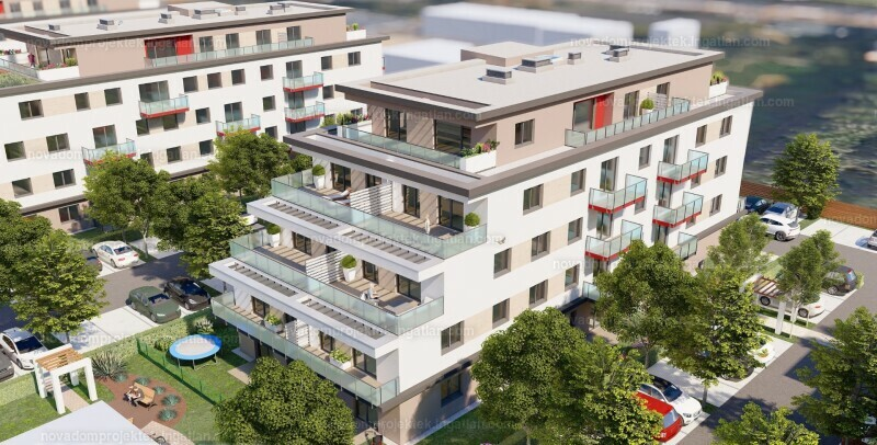 Mira Garden Lakópark III. - 1 szoba erkéllyel