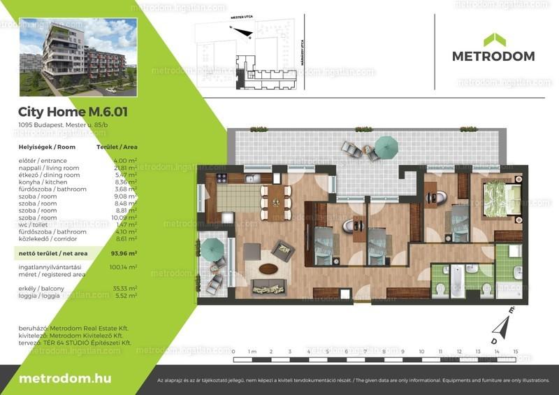 4 + 1 szoba erkéllyel