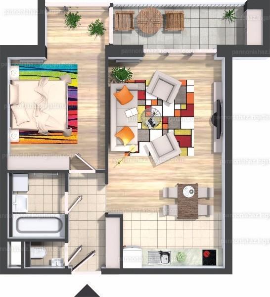 Pannónia Ház - 2 szoba erkéllyel