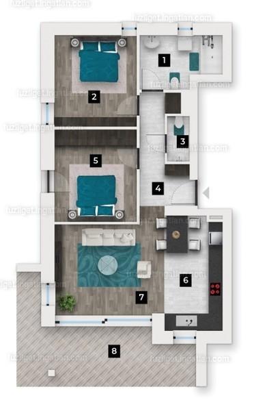 Fűz Liget Lakó- és Üdülőpark - 3 szoba erkéllyel