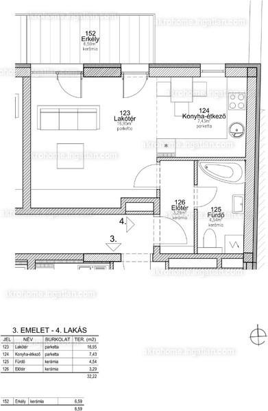 BRSS106 - 1 szoba erkéllyel