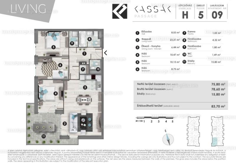 Kassák Passage - 1 + 3 szoba erkéllyel