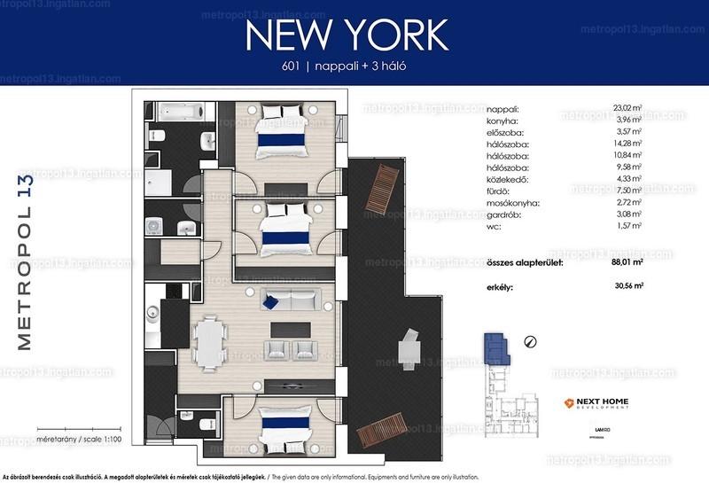 Metropol 13 - 4 szoba erkéllyel