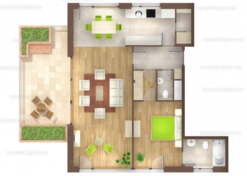 E&V Budahill - 2 szoba erkéllyel