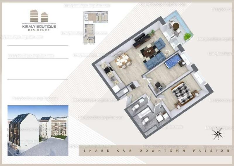 Király Boutique Residence - 3 szoba erkéllyel