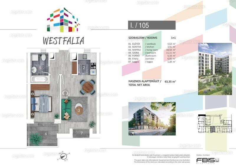 Westfalia - 2 szoba erkéllyel