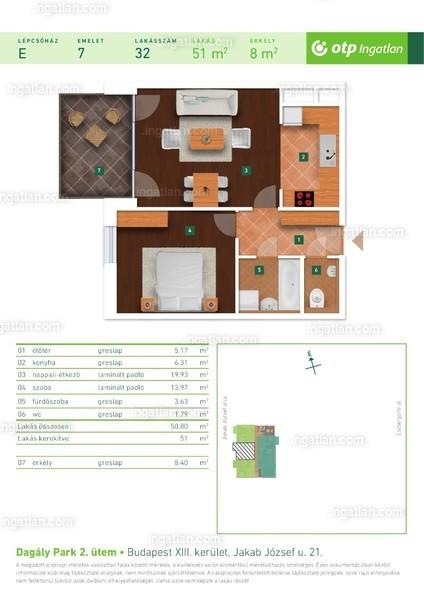Dagály Park 2. ütem - 2 szoba erkéllyel