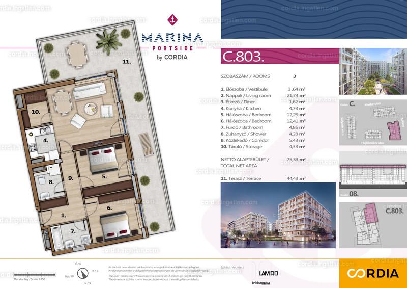 Marina Portside by Cordia - 3 szoba erkéllyel
