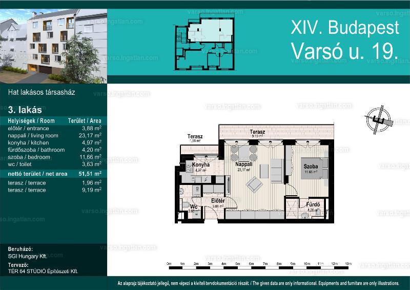 Varsó19 - 1 + 1 szoba erkéllyel