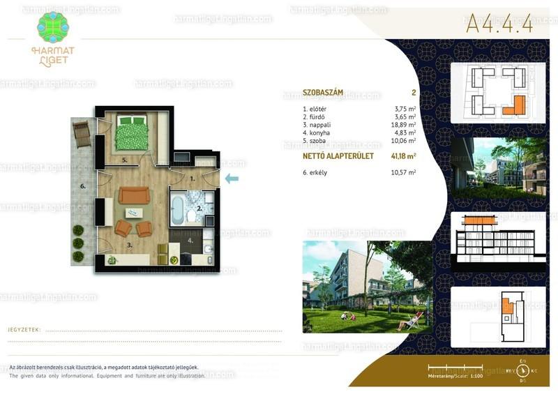 Harmat Liget lakópark I. ütem - 2 szoba erkéllyel
