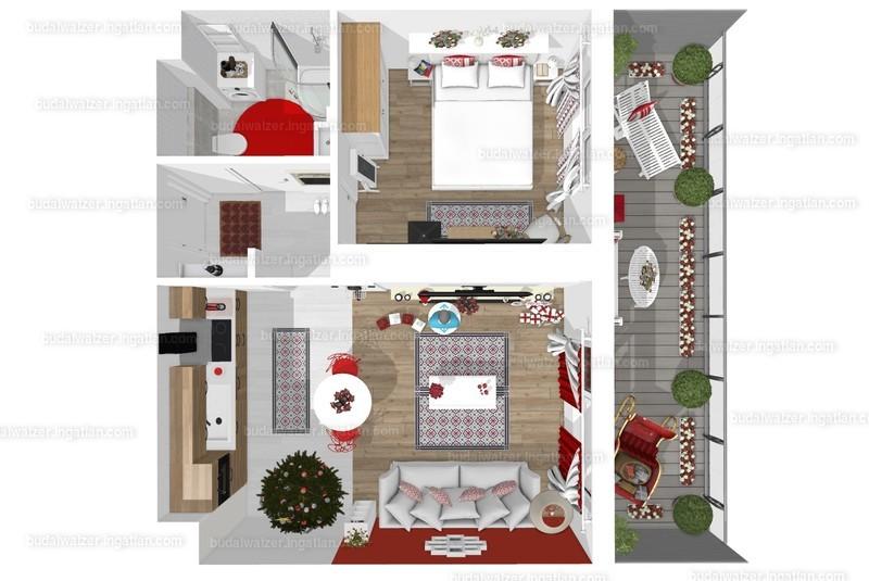 Budai Walzer I. ütem - 2 szoba erkéllyel