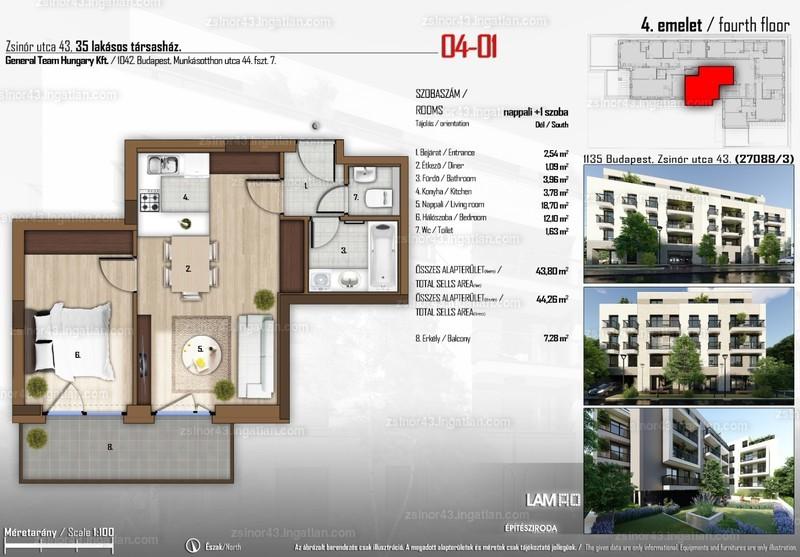 Zsinór 43 - 2 szoba erkéllyel