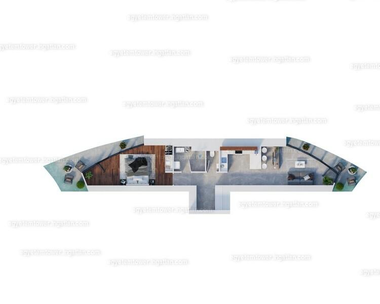 Egyetem Tower - 3 szoba erkéllyel