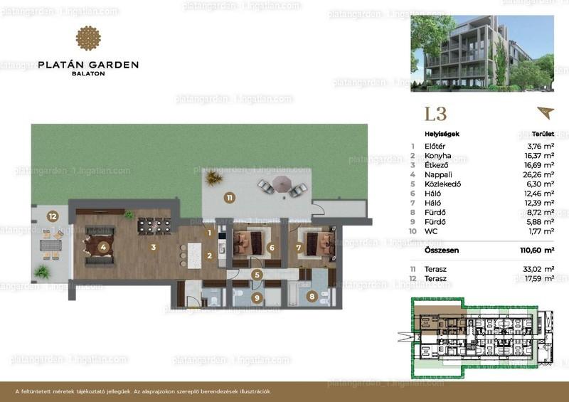 Platán Garden Balaton - 3 szoba kertkapcsolattal